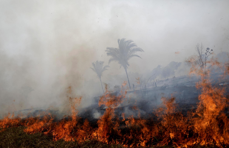 Wani yankin dajin Amazon da gobarar daji ta kone a gaf da jihar Rondonia dake kasar Brazil