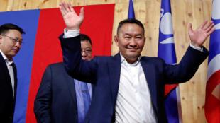 Khaltmaa Battulga, tổng thống Mông Cổ mới đắc cử ngày 08/08/2017 tại Oulan-Bator.