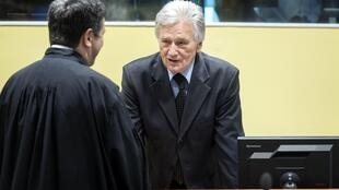 Momcilo Perisic au Tribunal pénal pour l'ex-Yougoslavie, le 28 février 2013.
