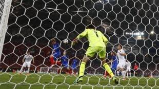 Gol de Antoine Griezmann, da seleção francesa, aos 45 minutos do segundo tempo contra a Albânia