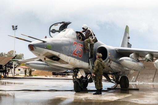 Un piloto ruso listo para despegar,en la base militar de Hmeimim, en la provincia de Lattaquie, en Siria.