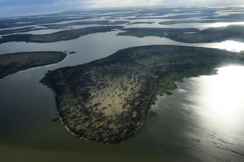 Vue du lac Tchad dans la région de Bol, chef-lieu de la région du Lac.