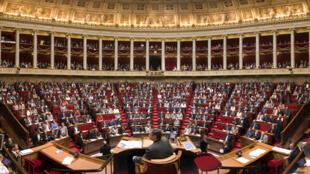 Bên trong hội trường Quốc hội Pháp ở Paris.