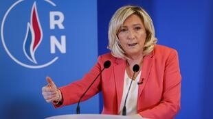 Marine Le Pen, présidente du Rassemblement National