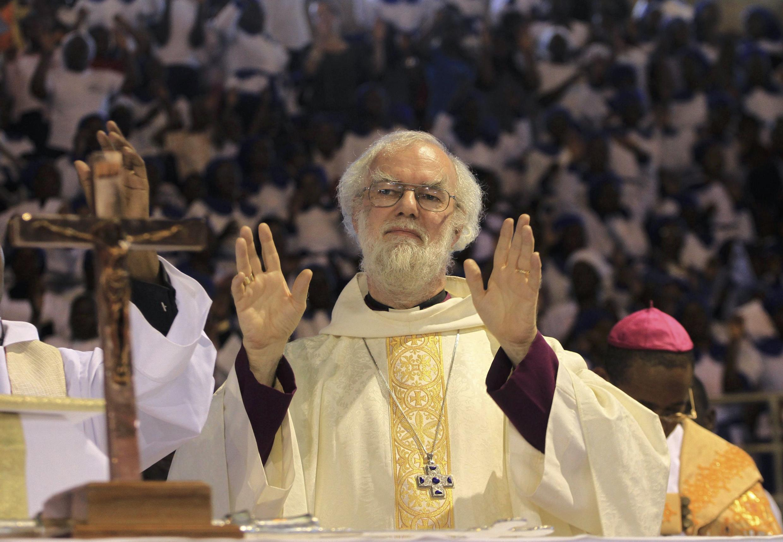 Kiongozi wa kanisa la kianglikane, Rowan Williams, jijini  Harare, Octoba 9. 2011.
