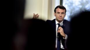 Le président Emmanuel Macron, le 14 janvier 2020.