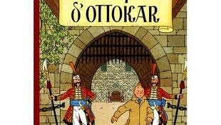 """Un dessin en couleur de Tintin et Milou, réalisé par Hergé pour le """"Sceptre d'Ottokar"""", a été vendu pour un peu plus d'un demi-million d'euros."""