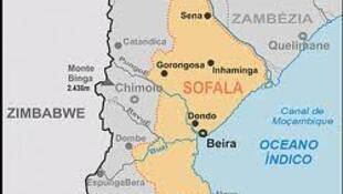 A região de Sofala onde se concentram as tensões