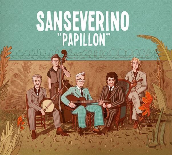 Pochette de l'album «Papillon» de Sanseverino.
