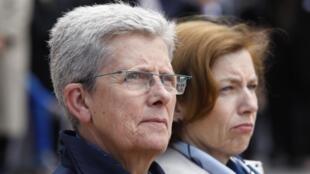 La secrétaire d'Etat après de la ministre des Armées Geneviève Darrieussecq lors des commémorations de l'appel du 18 juin à Suresnes.