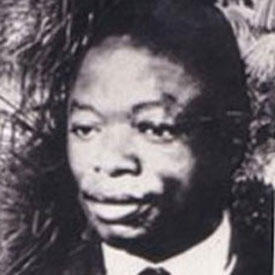 Ruben Um Nyobe, portrait en noir et banc.