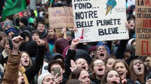 Tuần hành vì khí hậu tại Bruxelles ngày 27/01/2019.