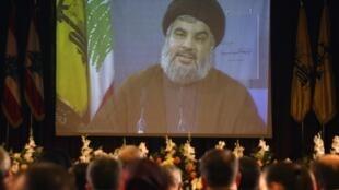 Le chef du parti chiite s'exprimait par vidéoconférence, le 30 novembre 2009.