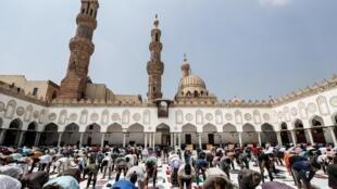 (illustration) Prière à la mosquée Al-Azhar, au Caire le 28 août 2020.
