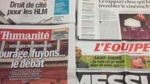 Primeiras páginas diários franceses 8/1/2014