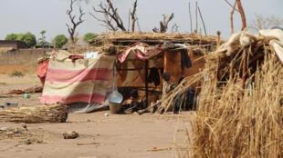 Réfugiés tchadiens venus de Centrafrique à Sido, le 28 février 2014.