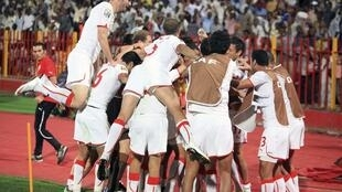 L'équipe de Tunisie lors du CHAN 2011.