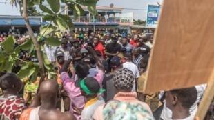 Plus de 50000 personnes, selon les organisateurs, ont participé à la manifestation de l'opposition à Cotonou, lundi 11 mars 2019.