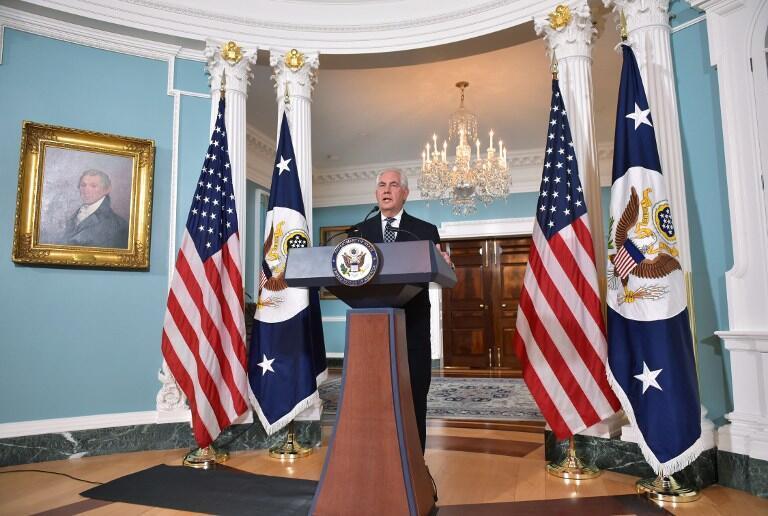 کنفرانس خبری رکس تیلرسون، وزیر امور خارجه آمریکا در مورد ایران. واشنگتن -چهارشنبه ۳۰ فروردین/ ١٩ آوریل٢٠۱٧