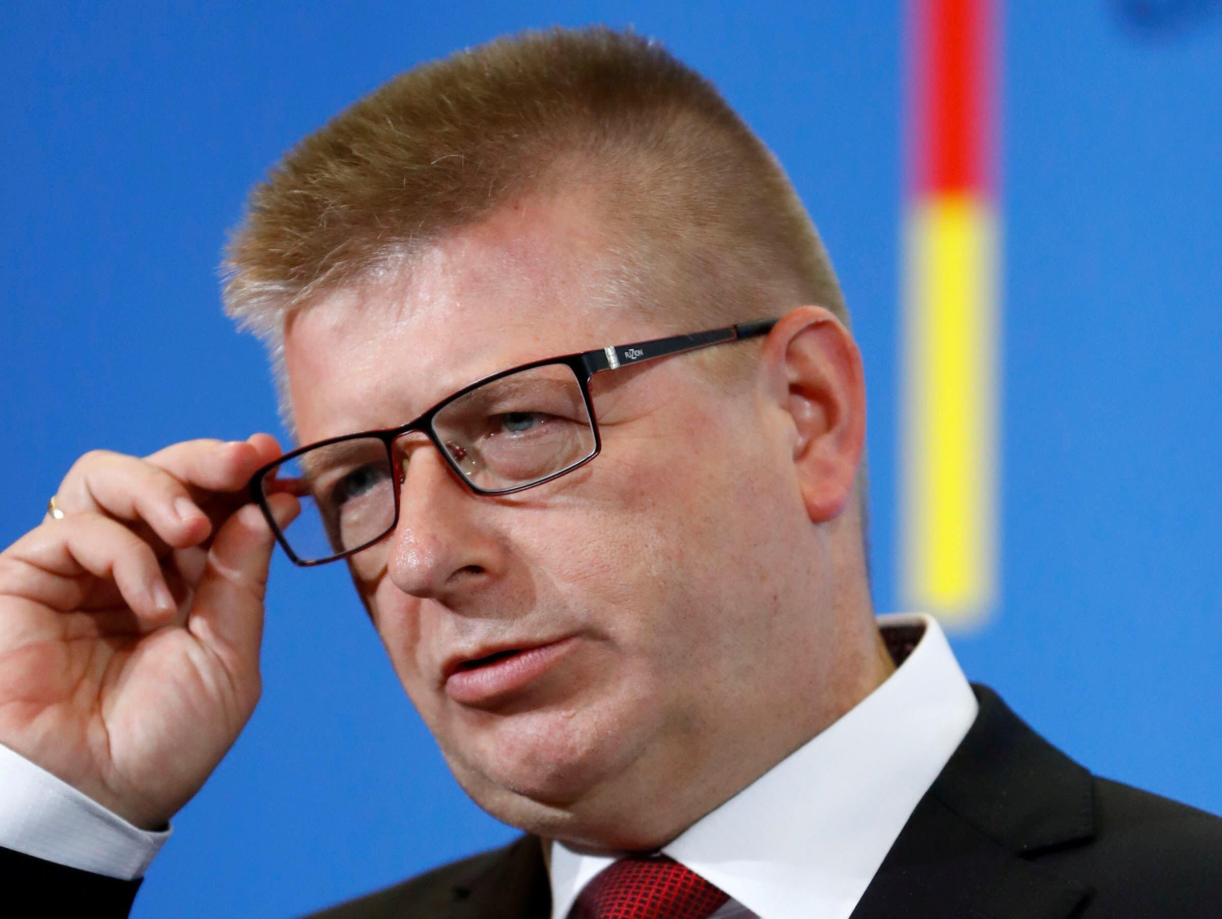 德國憲法保衛局局長托馬斯·哈爾登旺資料圖片