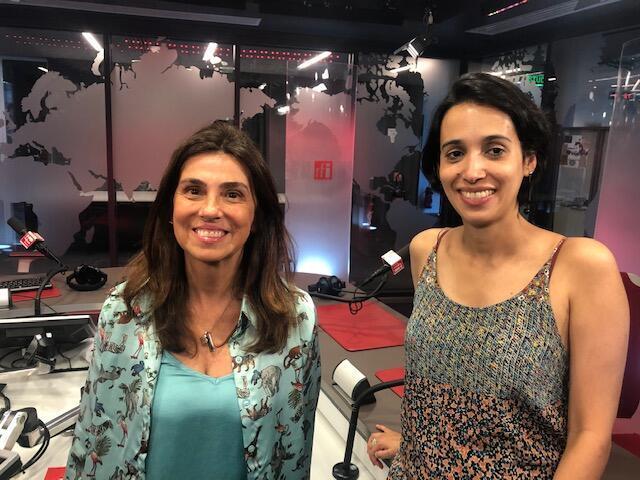 """Gláucia Nogueira, co-fundadora do coletivo Iandé e Ioana Mello, curadora da mostra """"What's going on in Brazil"""""""