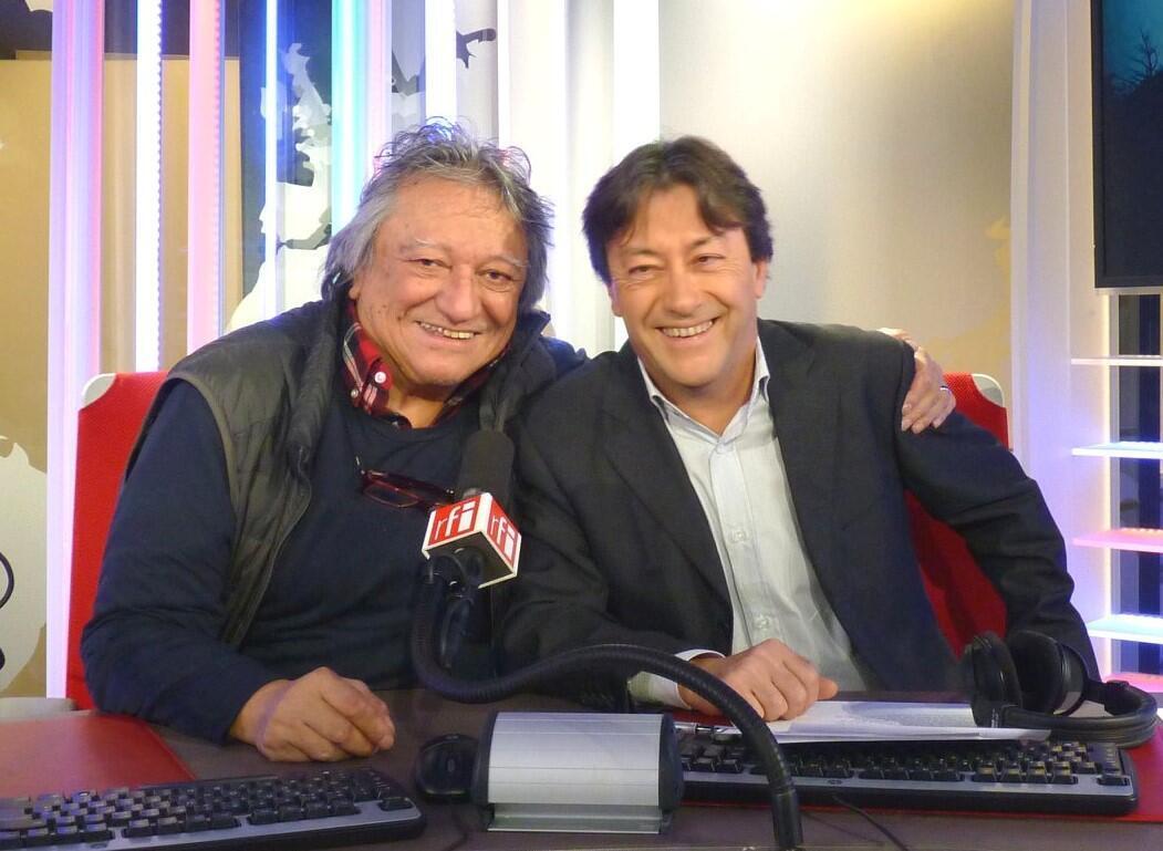 Oscar Castro y Jordi Batallé en diciembre de 2018 en RFI