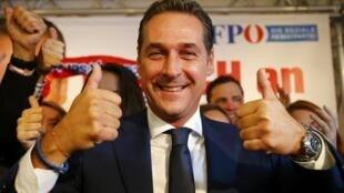 Heinz-Christian Strache, du parti d'extrême droite autrichien FPE.