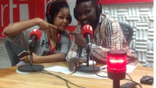 Meninah Ladiva studio za RFI Kiswahili