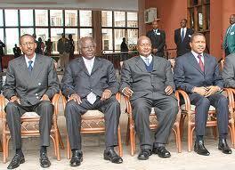 Baadhi ya Marais wa EAC