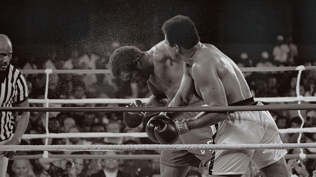 Le combat de Mohamed Ali contre George Foreman à Kinshasa, en 1974.