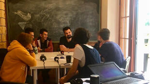 Atelier radio dans le centre d'inclusion OMNES à Kilkis.