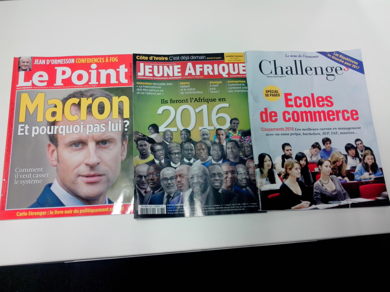 Capas dos semanários e magazines franceses de 02/01/16