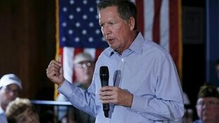 A nova estrela da disputa presidencial americana, o republicano moderado John Kasich.