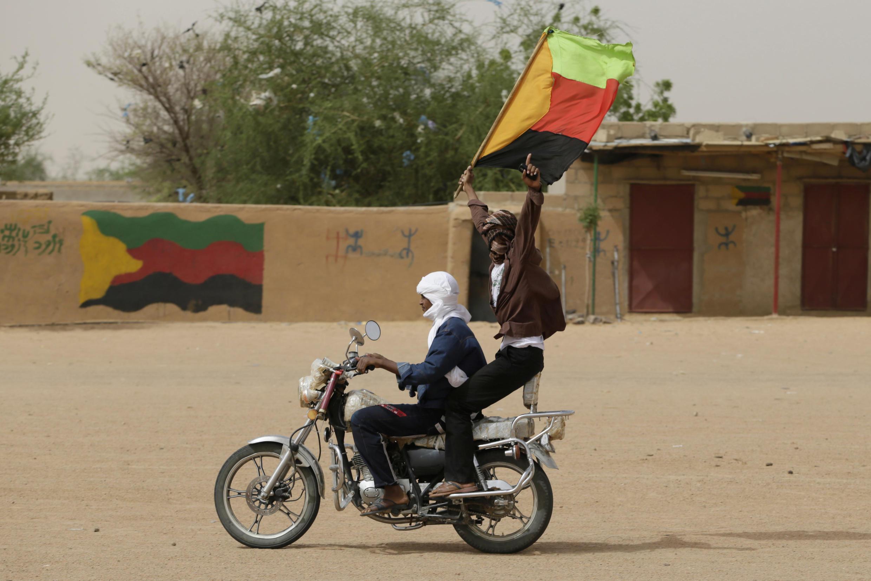 Des militants indépendantistes du MNLA, à Kidal, dans le nord du Mali le 28 juillet 2013.