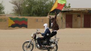 Des militants indépendantistes du MNLA, à Kidal, dans le nord du Mali (photo d'illustration, 2013).
