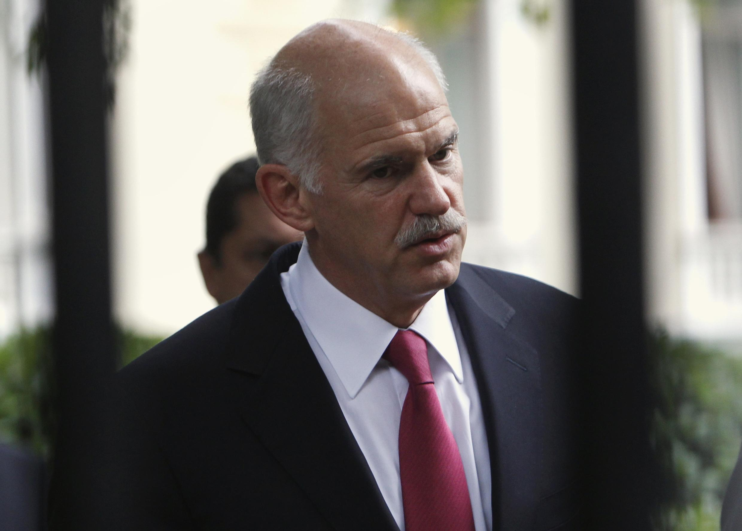 Greece's prime minister George Papandreou hopes to push his austerity package through parliament.