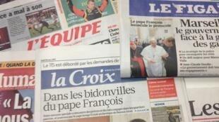 Primeiras páginas diários franceses 18/3/2013