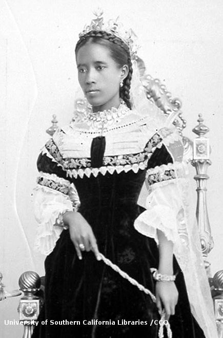 Ranavalona III, dernière reine de Madagascar.