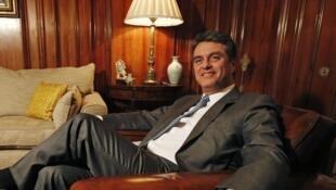Roberto Azevedo, ici le 14 mars dernier à Londres, succèdera à Pascal Lamy à la tête de l'OMC, en juillet prochain.