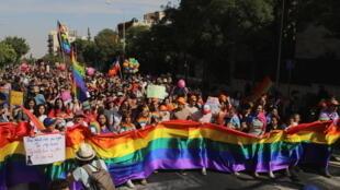 La Gay Pride de Jérusalem, le 3 juin 2021.