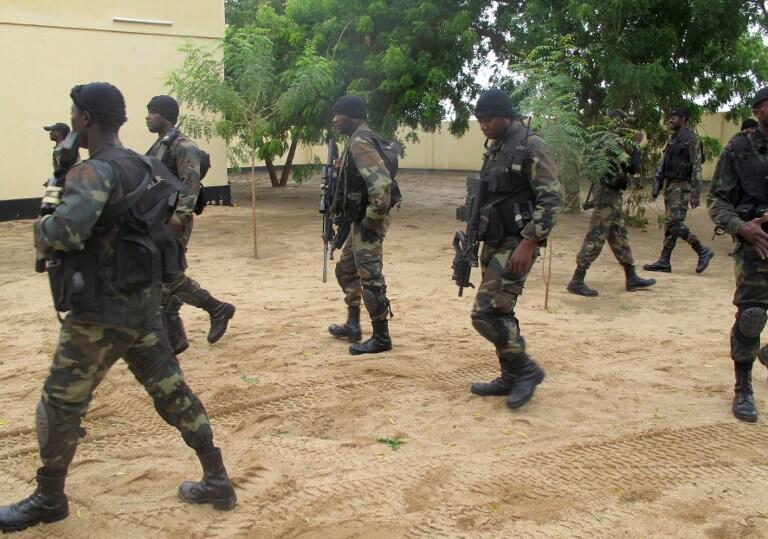 Amchide, au nord du Cameoun, à la frontière nigériane, le 17 juin 2014. Les unités d'élite de la Brigade d'intervention rapide sont déployées sur le terrain contre les insurgés de Boko Haram.