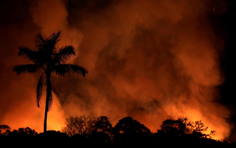 亞馬遜森林大火。 拍攝於2019年8月31日