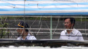 2009年9月11日台湾前总统陈水扁在台北拘留所。