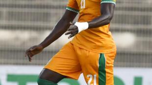 Le défenseur ivoirien Eric Bailly en septembre 2017, à Abidjan.