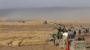 نیروهای اقلیم خودمختار کُردستان عراق در جنوب شرقی موصول. ۲۴ مرداد/ ١٤ اوت ٢٠١٦