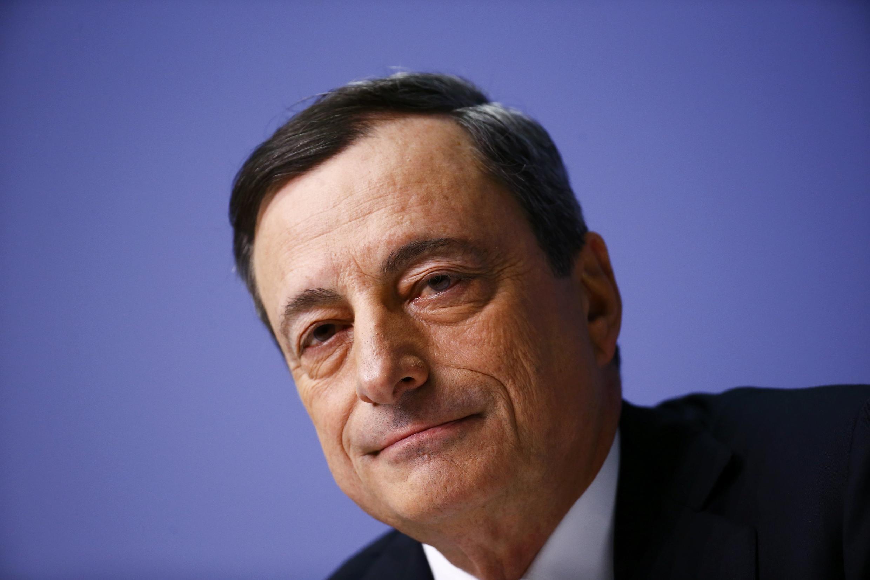 Le président de la BCE Mario Draghi lors de la réunion à Francfort, le 22 janvier 2015.
