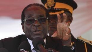 Robert Mugabe, président zimbabwéen, le 25 août dernier à Harare.