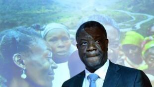 Denis Mukwege, le gynécologue congolais, lauréat 2014 du prix Sakharov .