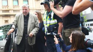 Kardinali George Pell katika mahakama ya Melbourne, Februari 26, 2019.