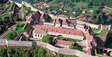 Les fortifications de Vauban à Besançon.